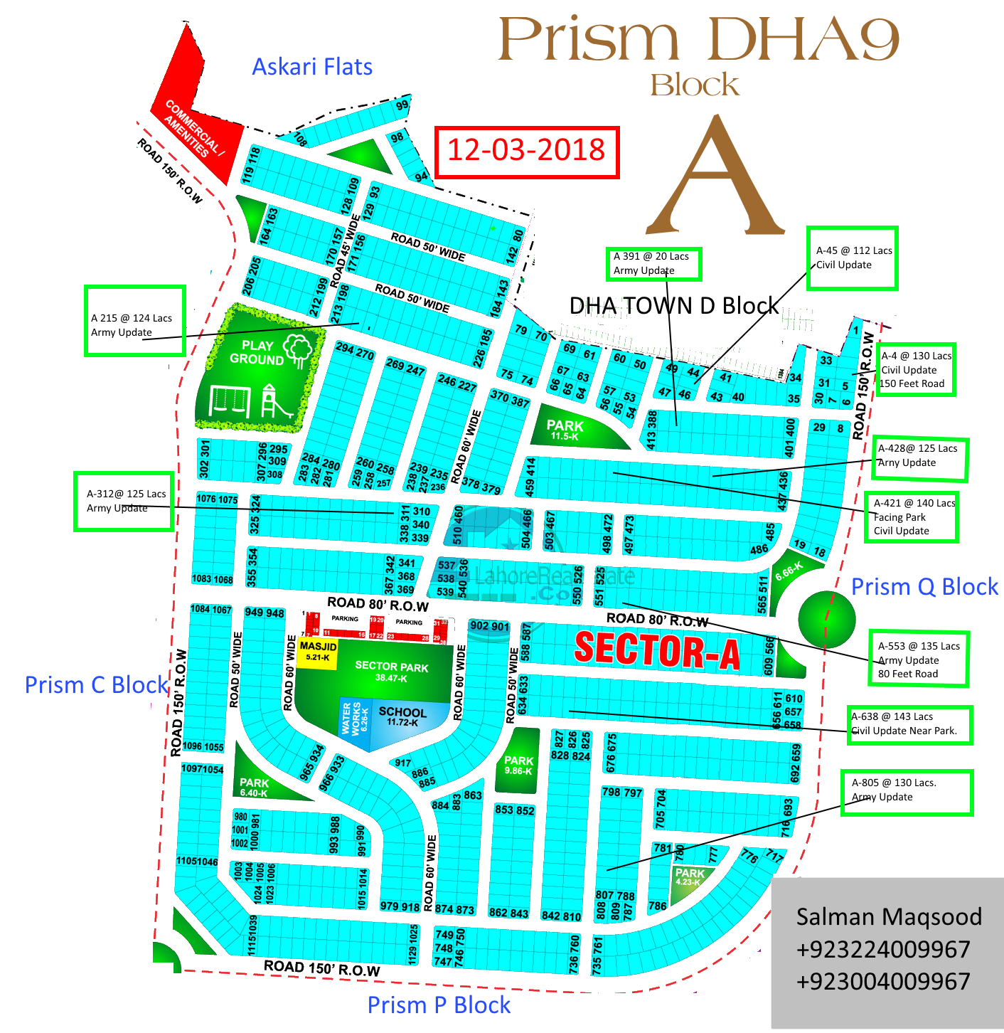 DHA Phase 9 Prism A Block